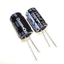 5pcs 250v 100uf 250volt 100mfd Electrolytic Capacitor 1625mm