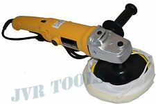 "7"" VARIABLE 6-SPEED ELECTRIC CAR POLISHER/BUFFER & SANDER w/ WOOL BONNET PAD"
