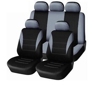 Renault-Clio-Laguna-Megane-Escenico-cubiertas-de-asiento-de-Coche-en-Gris-Negro-Deportivo-para-caber