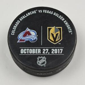 Vegas-Golden-Knights-Warm-Up-Puck-Used-10-27-17-VGK-Vs-Colorado-Avalanche-Game