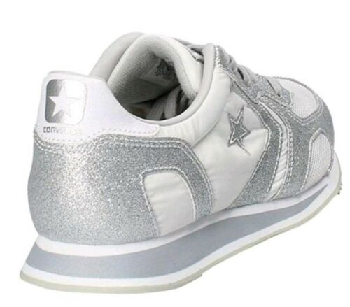 Racer 4 Auckland Ox Silver Converse Bnib Pure Uk Ladies Trainers White 561303c HTqw5