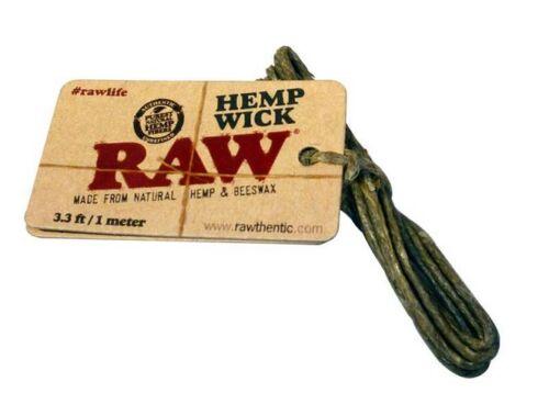 Natural Hemp x3 RAW 1m Meter Hemp Wick Beeswax