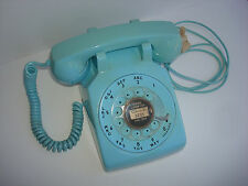 Antique original Blue   Western Electric telephone model 500 set 1966  Custer