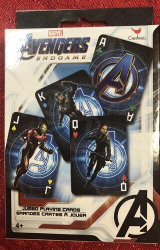 Marvel Avengers Endgame JUMBO Playing Card Game Travel Car Toy Kid