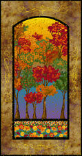 Fabric Fabri-quilt Changing Seasons Fall Autumn tree Sunset sky PANEL Ro Gregg