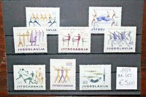 FRANCOBOLLI-YUGOSLAVIA-1959-034-SPORT-ATLETICA-034-NUOVI-MNH-SET-CAT-5A