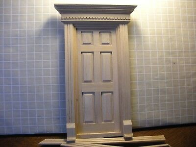 DOLLHOUSE MINIATURE ONE INCH SCALE COLONIAL DOOR ASSEMBLY