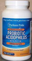 Puritan's Pride Probiotic Acidophilus W/pectin 3 Billion Live Cells 250 Caps