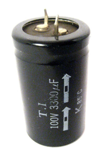 T.I. Radial Snap- In Electrolytic Capacitor 3300uF 100V 85 °C: Mfg