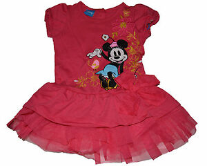 60f0c7c9d93e8 Details about SALE* GENUINE DISNEY TODDLER Minnie Mouse FLOUNCE PINK TIER  DRESS FREE SHIP