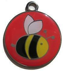 Details about Color Filled Bee Pet Tag Free SSH US