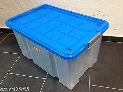 UNTERBETTKOMMODE + DECKEL+ROLLEN AUFBEWAHRUNGSBOX STAPELBOX EUROBOX 60X40X30 CM
