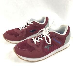 Details about ROOS KangaROOS Mens Size 10 Sport Maroon Zipper Pocket  Sneaker Shoes Vintage
