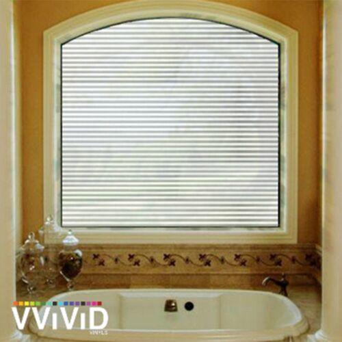 "VViViD Privacy Window Glass Film 36/"" x 24/"" White line long Home Decor Removable"