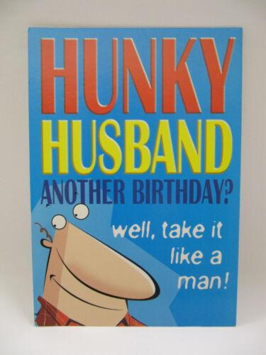 Hallmark 3 Fold Funny Pola époux Take it like a man Birthday greeting card