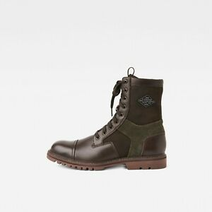 New G-Star Raw Tendric Combat Military Boots US8 9 10 Brown jeans gstar g star