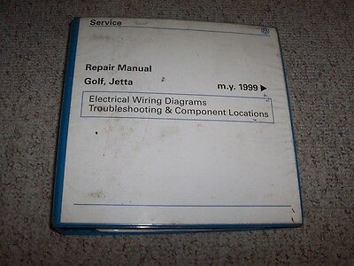 2001 VW Volkswagen Golf Jetta Electrical Wiring Diagrams ...