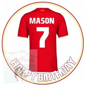 Liverpool Lfc Football Shirt Personalised Edible Printed Icing Cake Topper Ebay