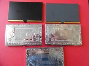 5-Cigarette-Metal-Cases-2-1-4-x-3-1-2-Lot-E40