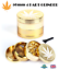 50mm-GOLD-GRINDER-4-Part-GRASSLEAF-Aluminium-Grinder-Herb-Pollinator-Crusher