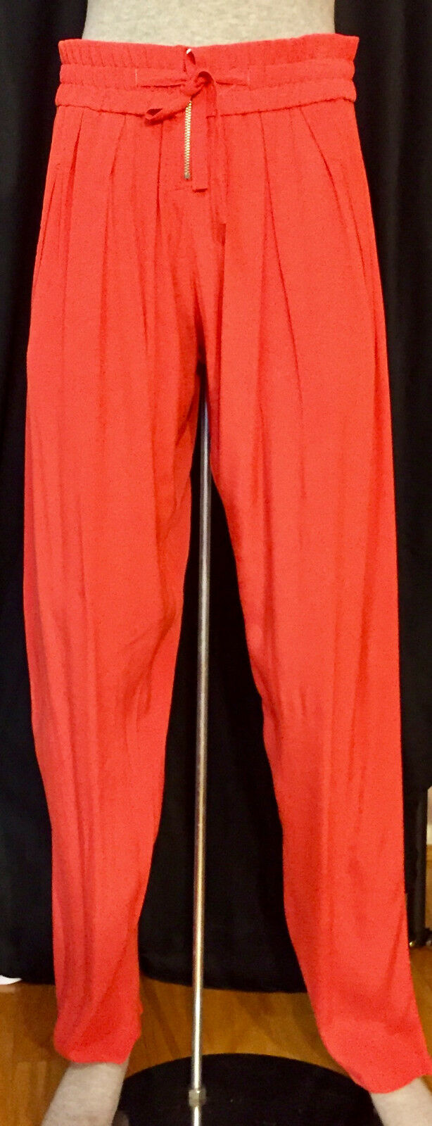 IRO Branson 100% Viscose orange Dress Pants Trousers sz 1 small