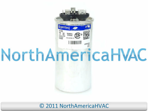 GE Genteq condensatore a doppia rampa ROUND 45//5 UF MFD 370 volt Vac 27L568 97F9895BX
