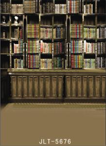 Image Is Loading Vinyl Photography Backdrop Retro Bookshelf Bookcase 5x7ft Photo