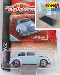 Majorette Volkswagen Beetle Red Vintage Diecast Car 1//64 241A Free Display Box