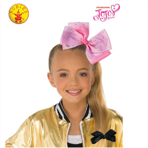 JOJO SIWA LICENSED LARGE OMBRE PINK HAIR BOW RHINESTONES CHILD GIRLS ACCESSORY