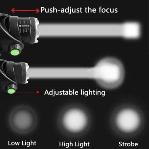 LAMPE TORCHE FRONTALE LED RECHARGEABLE USB 4000 A 10000 LUMENS BUSHCRAFT SURVIE
