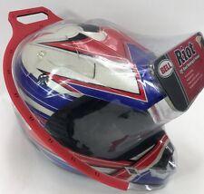 Bell Riot Moto-Cross Motorcycle Helmet Visor Size Small Full  Red White Blue NEW
