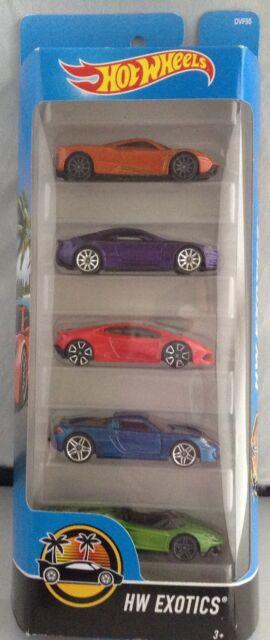 Hot Wheels 2017 Hw Exotics 5 Pack Pagani Huayra Lamborghini