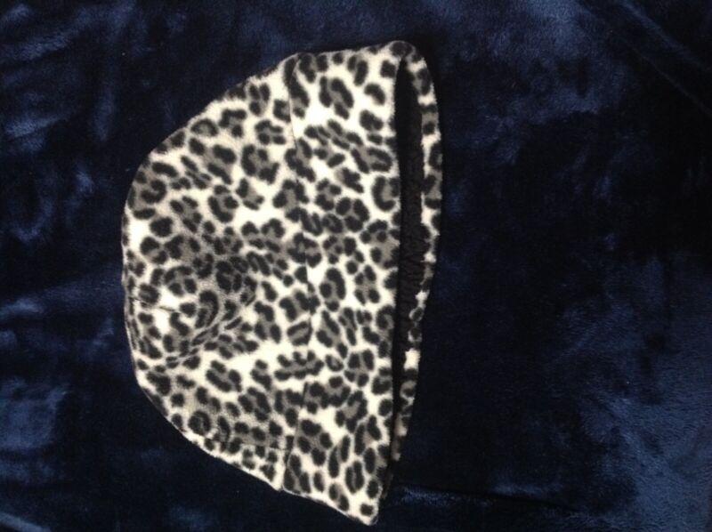 United White&black Cheetah Print St.john's Bay Hat+scarf Worn High Safety
