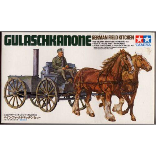 1//35 MODELLISMO MILITARE ww2 RAR GERMAN FIELD KITCHEN Gulasch cannone TAMIYA 35103