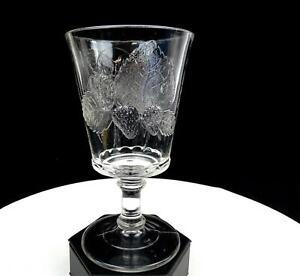 STRAWBERRY-CURRANT-DALZELL-GILLMORE-LEIGHTON-EAPG-NONFLINT-GLASS-6-034-GOBLET-1880s