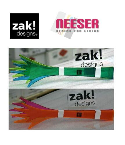 Zak Designs Salatbesteck Helping Hands transparent in 2 Farben Sofortversand