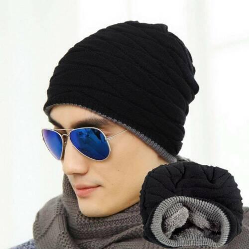 2019 Men Women Crochet Knit Plicate Baggy Beanie Wool Hat Skull Winter Warm Cap