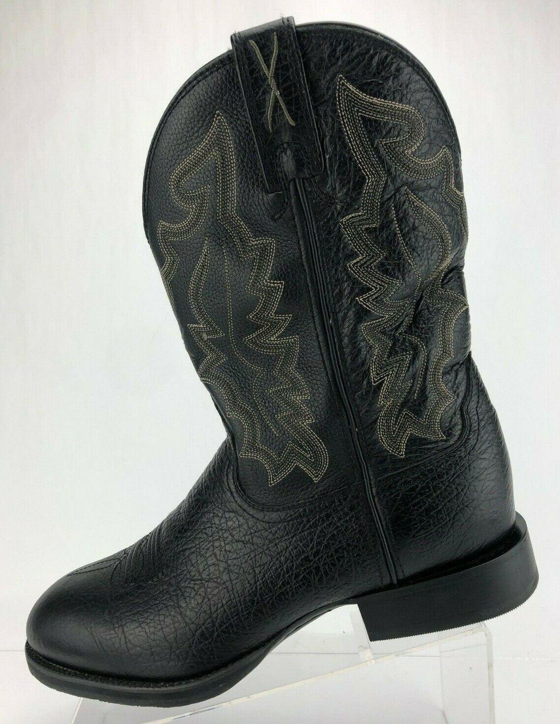 Twisted x botas de Vaquero Stockman occidental Negro Cuero Mitad de Pantorrilla Zapatos para hombre 9.5 Extra Ancho