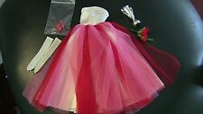 VINTAGE BARBIE Campus Sweetheart White Red Pink dress flower bouquet trophy LOT