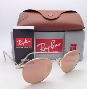 2d3e44d7449a6 New Ray-Ban Sunglasses ROUND METAL RB 3447 112 Z2 Gold Frame w  Pink ...