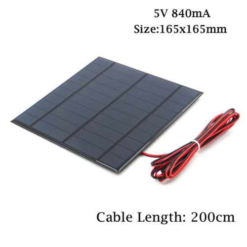 Mini Solar Panel Power Module with Cable For Battery Cell Phone Charger DIY