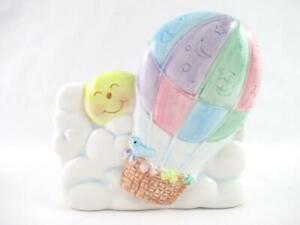 Vintage Napco Nursery Music Box Planter Air Balloon Twinkle Twinkle Little Star