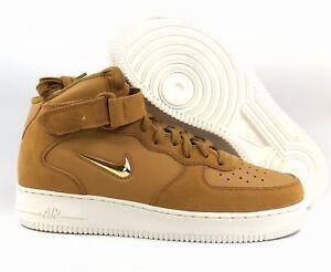 Nike-Air-Force-1-Mid-039-07-LV8-Jewel-Swoosh-Bronze-Tan-Gold-804609-200-Men-039-s-13