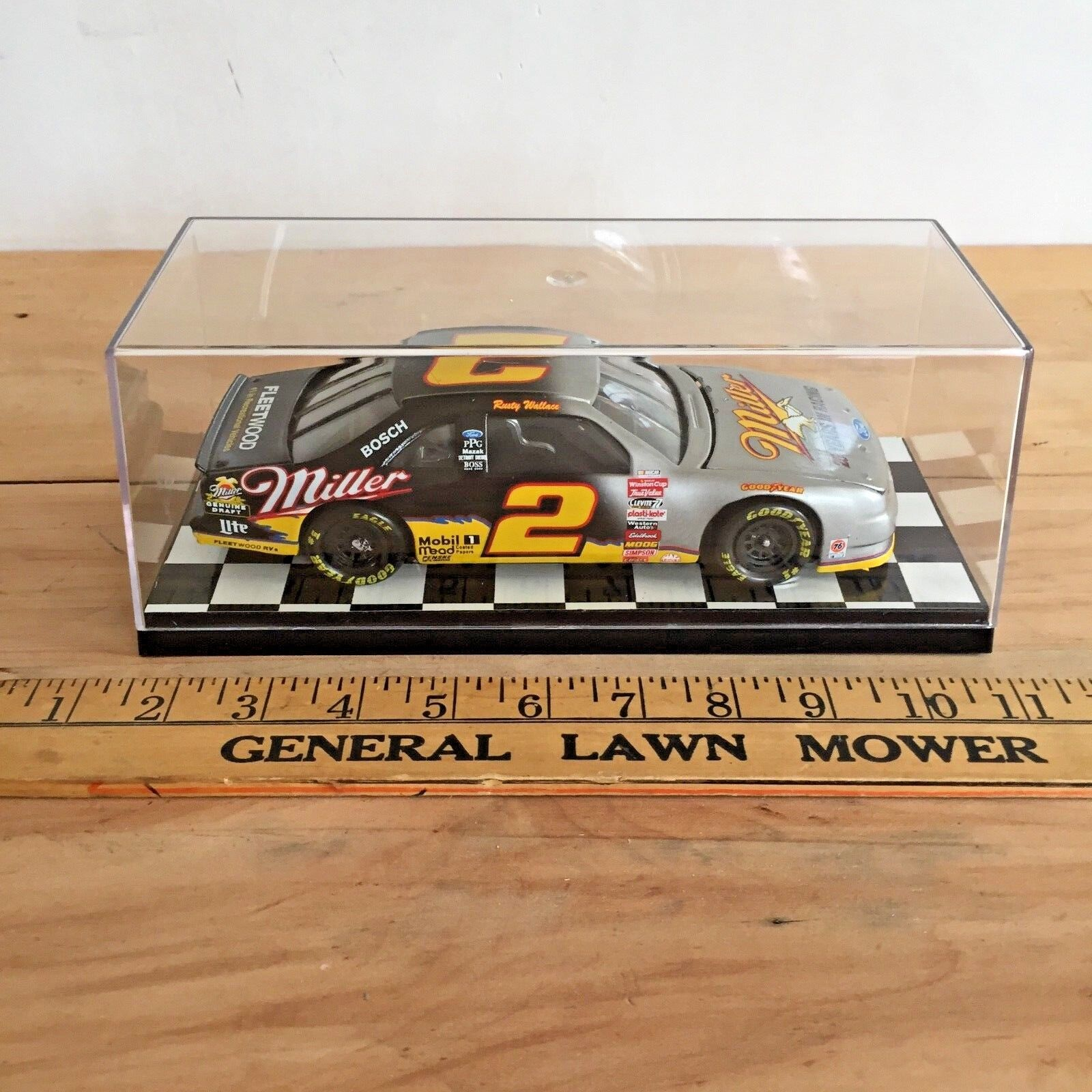 1996 Rusty Wallace Miller  - Nascar 1 24 Diecast  Precision Model Crafters