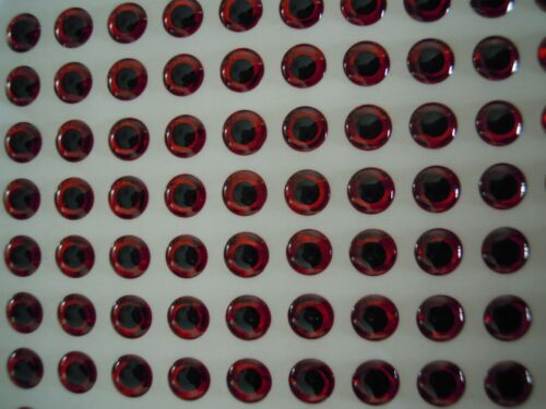 144pcs 12mm Red Eyes 3D Holographic Fishing Lure Eyes Fly Tying Jigs Crafts Doll