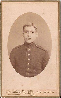 Billiger Preis Cdv Photo Soldat - Strassburg 1880er SchöNe Lustre