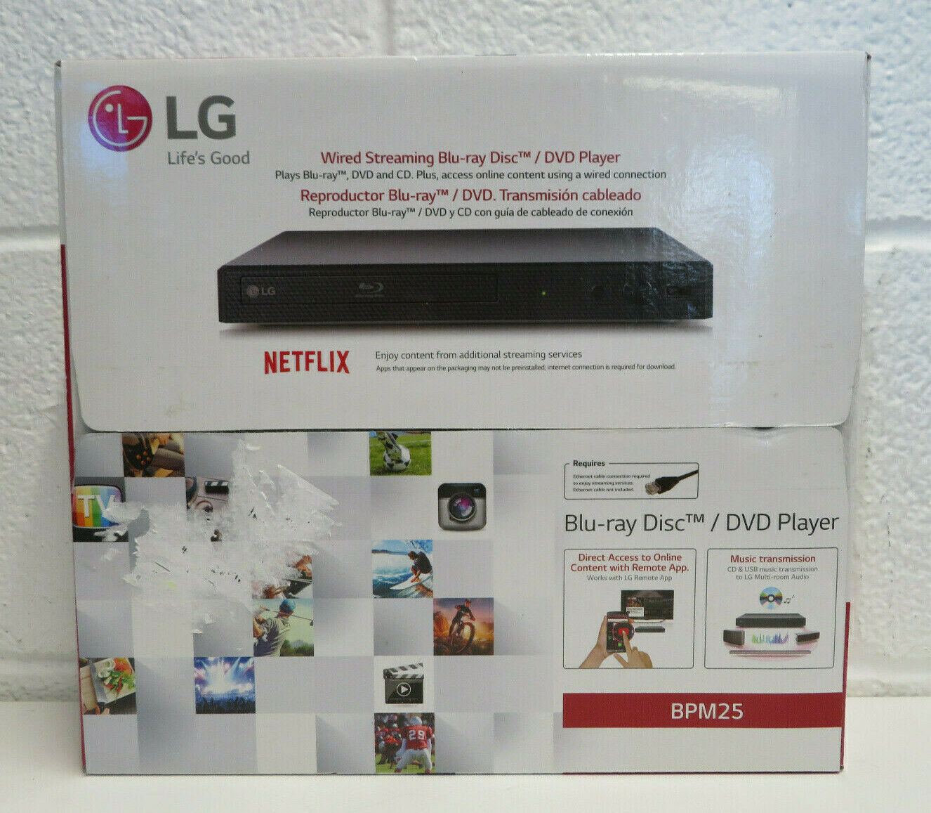 LG Blu-ray DVD CD Player Wired with Streaming Services - BPM25 BRAND NEW bpm25 brand dvd new player services streaming wired with