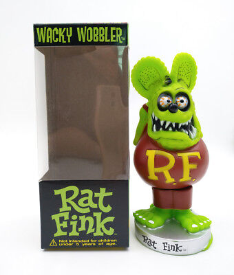 Green Rat Fink Bobblehead Big Daddy Gift Wacky Wobbler Legends Action Figure