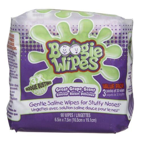 Boogie Wipes Gentle Saline Wipes Grape 90 ea
