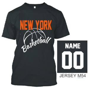 40ecac6b8 Image is loading NEW-YORK-BASKETBALL-T-SHIRT-JERSEY-CUSTOM-PERSONALIZED-